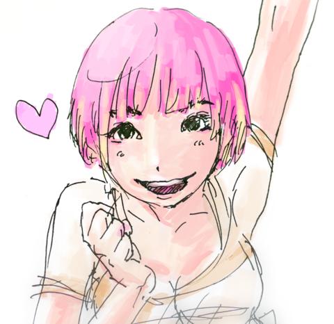 絵「ピンクハート」