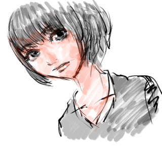 絵「apple pencilとZenBrush2で顔2」