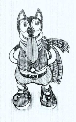 ちょび髭犬