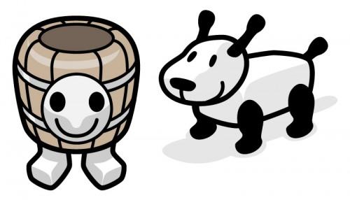 タル男と犬でつ