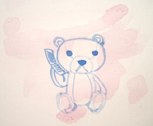クマと携帯