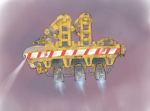 Space course management ship