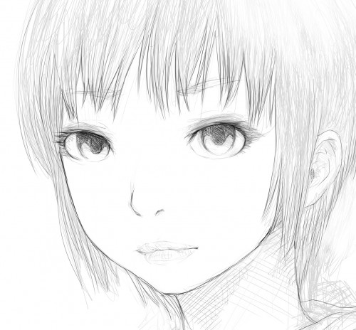 girl's face drawing