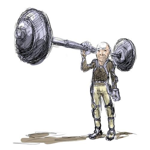 powered grandpa